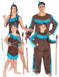 Familie kostume indianere