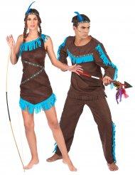 Par kostume indianere brune til voksne