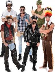 Gruppe kostume disco stjerner til mænd