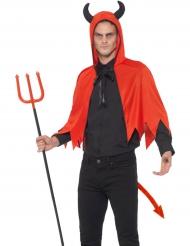 Djævlekit med kappe til voksne