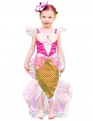 Havfrue kostume i guld og lyserød til piger
