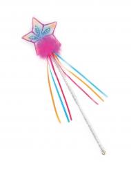 Regnbuefarvet tryllestav med stjerne til børn