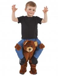 Dreng på ryggen af en bjørn kostume til børn - Morphsuits™