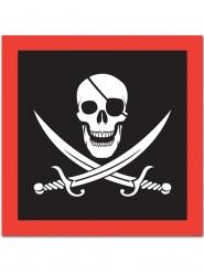 16 pirat servietter med dødningehovedm 33 x 33 cm