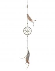 Drømmefanger ophæng med blomster 35 cm