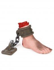 Blodig fod med kæde - Halloween dekoration