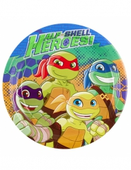 Ninja Turtles™ paptallerkener 8 stk 23 cm