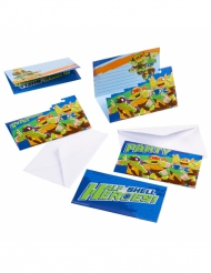 Ninja Turtles™ invitationskort 6 stk