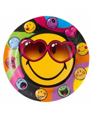 Smiley World™ tallerkener 23 cm
