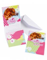 6 stk. Charming Horses invitationer
