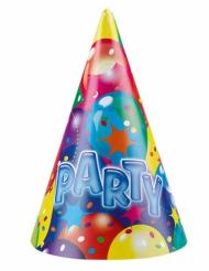 Multifarvet party hatte