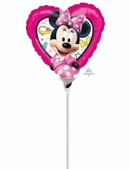 Lille hjerteformet ballon med Minnie3 23x23cm