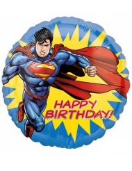 Superman™ aluminiumsballon Happy Birthday 43 cm