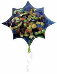 Ninja Turtles™ aluminiumsballon stjerneformet 88x73 cm