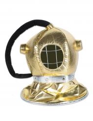 Guldfarvet dykkermaske