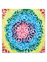Peace hippie bandana 55x55cm