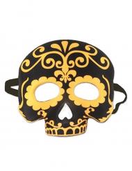 Dia de los Muertos maske i sort og gul