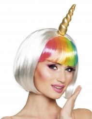 Unicorn paryk med horn