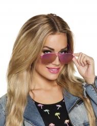 Lyserøde pilotbriller til voksne