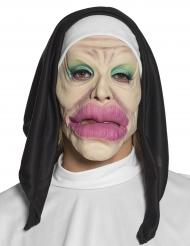 Sjov nonne latex maske voksen