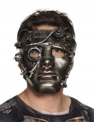 Krom ansigt steampunk maske voksen