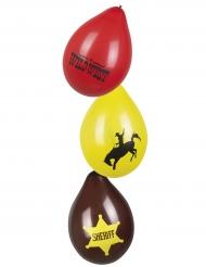 6 Western Wild West Balloner 25 cm