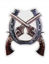 Western Wild west murdekoration med pistoler 47 x 40 cm