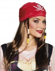 Piratparyk med rød bandana