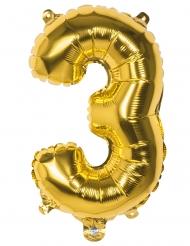 Ballon aluminium 3 tal - Guldfarvet
