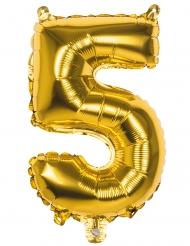 Ballon aluminium 5 tal - Guldfarve