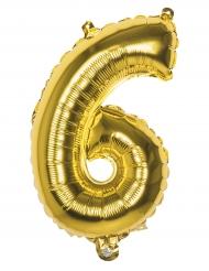 Ballon aluminium 6 tal - Guldfarvet
