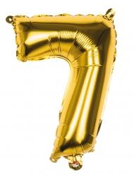 Ballon aluminium 7 tal - Guldfarvet