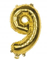 Ballon aluminium 9 tal - Guldfarvet