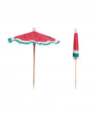 12 Cocktail-paraplyer ananas 10 cm