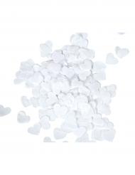 Hvidt hjerteformet konfetti 20 gr