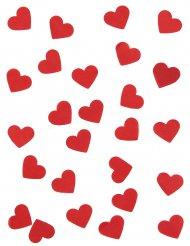 Rødt hjerte konfetti 20 gr