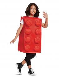 Rød legoklods kostume til børn