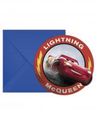 6 Invitationskort  + kuverter Cars 3™ McQueen