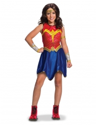 Klassisk Wonder Woman kostume til piger - Justice League™