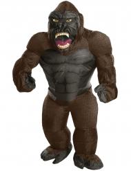 Oppusteligt King Kong™ kostume til voksne