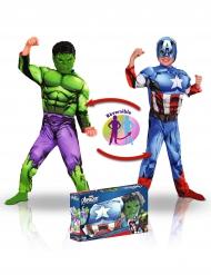 Captain America™ og Hulk™ kostume til børn - luxe