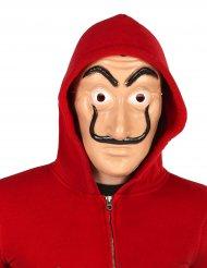 Maske med sort overskæg anonymous - Til voksne
