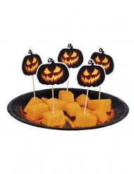 Halloween snackpinde med græskar 12 stk