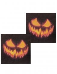 Halloween servietter med græskar - 12 stk