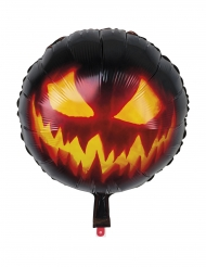 Halloween aluminiumsballon med græskar 45 cm