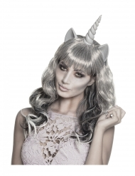 Spøgelses unicorn paruk til voksne