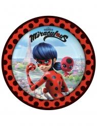 Ladybug™ paptallerkener med superhelte på midten - 23 cm