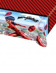 Rød Ladybug™ plastikdug med animeret kanter - 120x180 cm