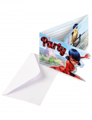 6 Ladybug™ invitationskort med konvolutter
