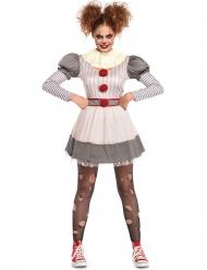 Uhyggeligt klovnekostume til kvinder - Halloween